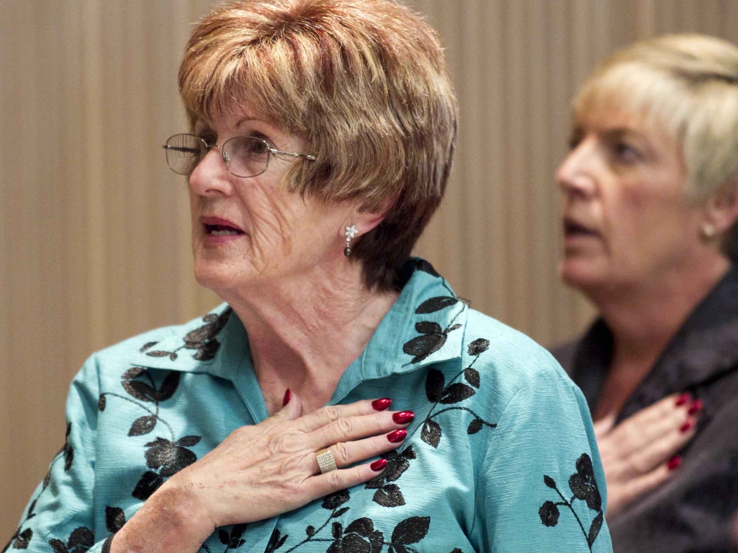 Phoenix Vice Mayor Thelda Williams, left, in 2011