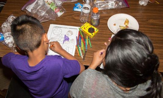 Reunited migrant families in Phoenix