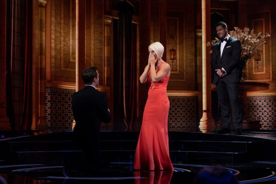 "Jordan Coon proposes to Ashlee Hewitt on ABC's ""The Proposal."" The two split shortly after the episode was filmed."