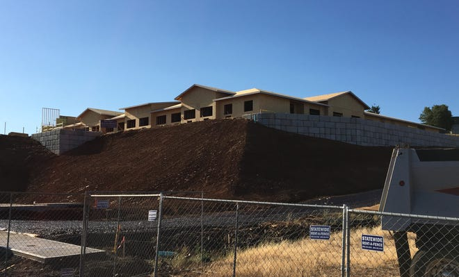 Construction work at a senior living facility located at 2950 Boone Road SE in Salem, Oregon, on July 20, 2018.