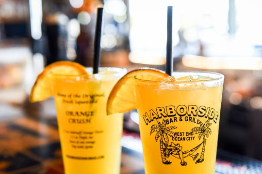 The orange crush is the specialty drink at Harborside Bar & Grill in Ocean City.