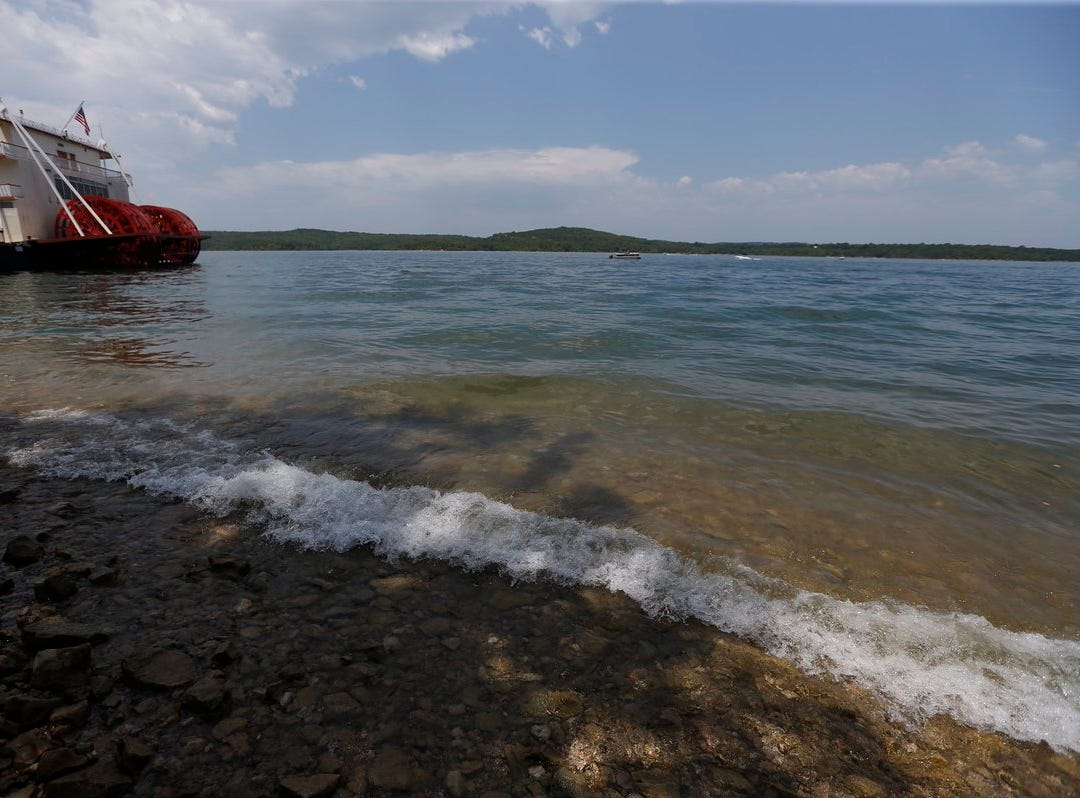 The area where the duck boat sank on Table Rock Lake is roughly 40 yards to the right of the paddlewheels seen Friday, July 20, 2018.
