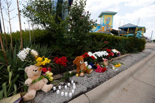 The memorial for victims of the duck boat accident on Table Rock Lake has continued to grow Friday, July 20, 2018 in Branson, Mo.