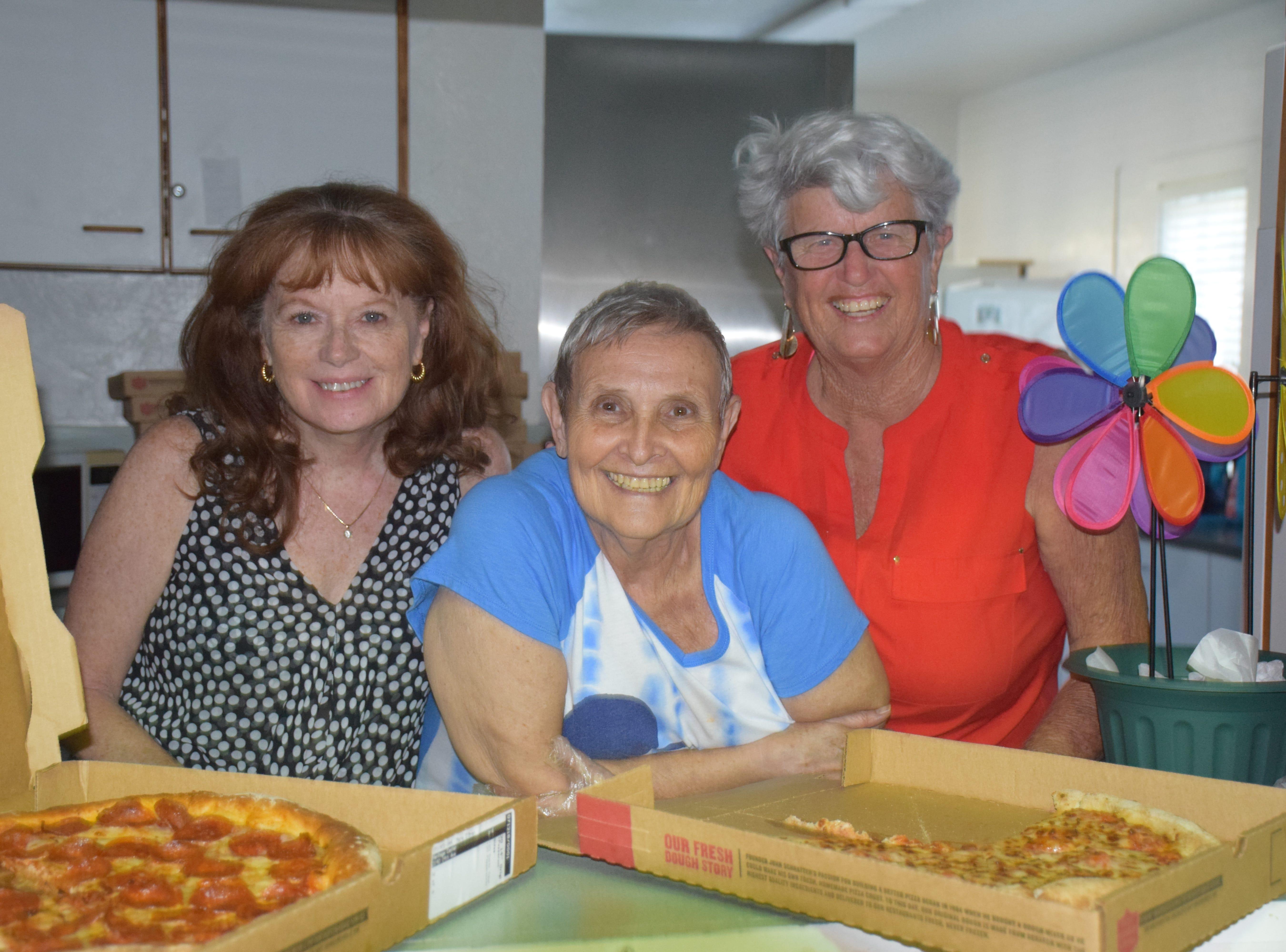 Suzy Feeney, June Daviddy and Marjorie Williams