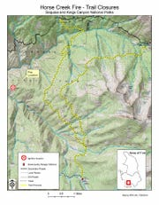 Horse Creek Fire Map