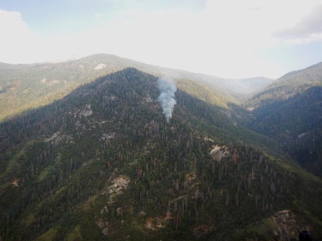 A  view of the lightning-caused Horse Creek Fire.