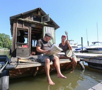 Video: Shantyboat visits Haverstraw on trip down Hudson River