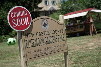 Edgemoor Gardens Park is the first new county park to be established in more than 15 years. Construction begins on Monday for the one-acre neighborhood park that will feature a basketball court, playground and paved perimeter walking trail.