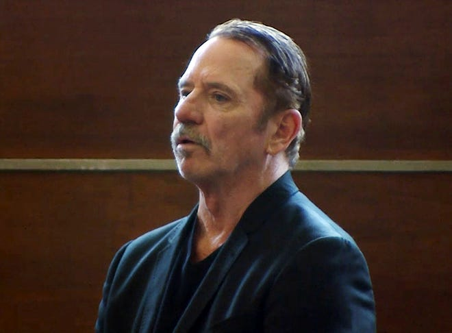 Tom Wopat at his arraignment in Waltham, Mass., on indecent assault and battery and drug possession charges, in August 2017.
