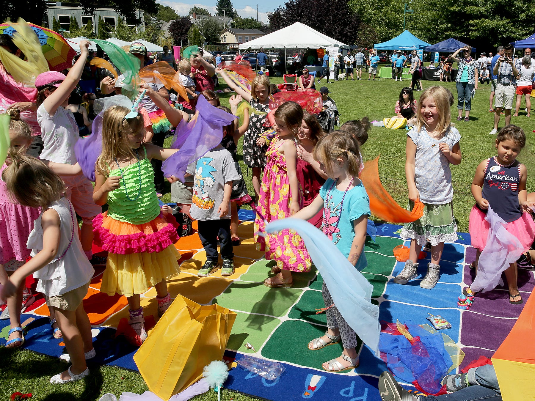 The Kitsap Pride Festival on Saturday July, 21, 2018 at Evergreen-Rotary Park in Bremerton.