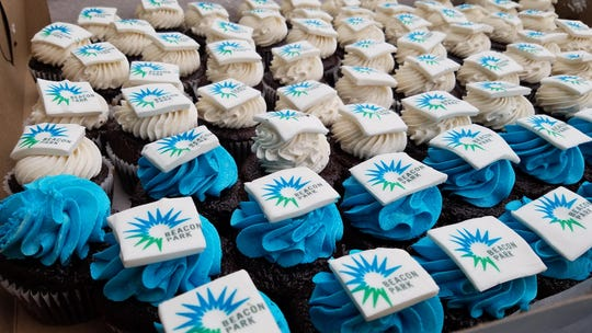 Cupcakes provided by For the Love of Sugar at Beacon Park's anniversary party on July 21, 2018.