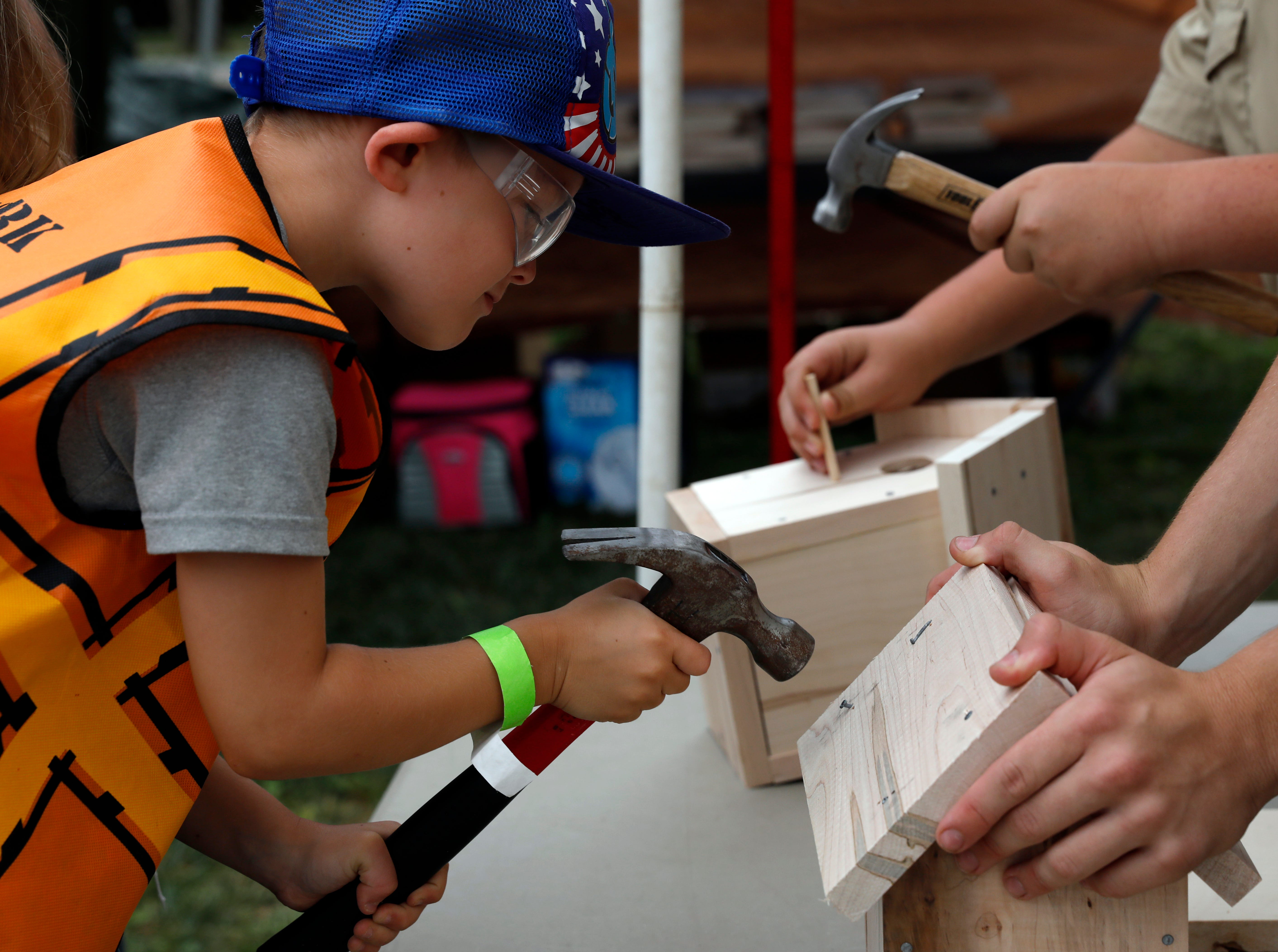 Hundreds of children attended the Lancaster Festival's Festival Fair Day Saturday, July 21, 2018, at the Fairfield County Fairgrounds in Lancaster.