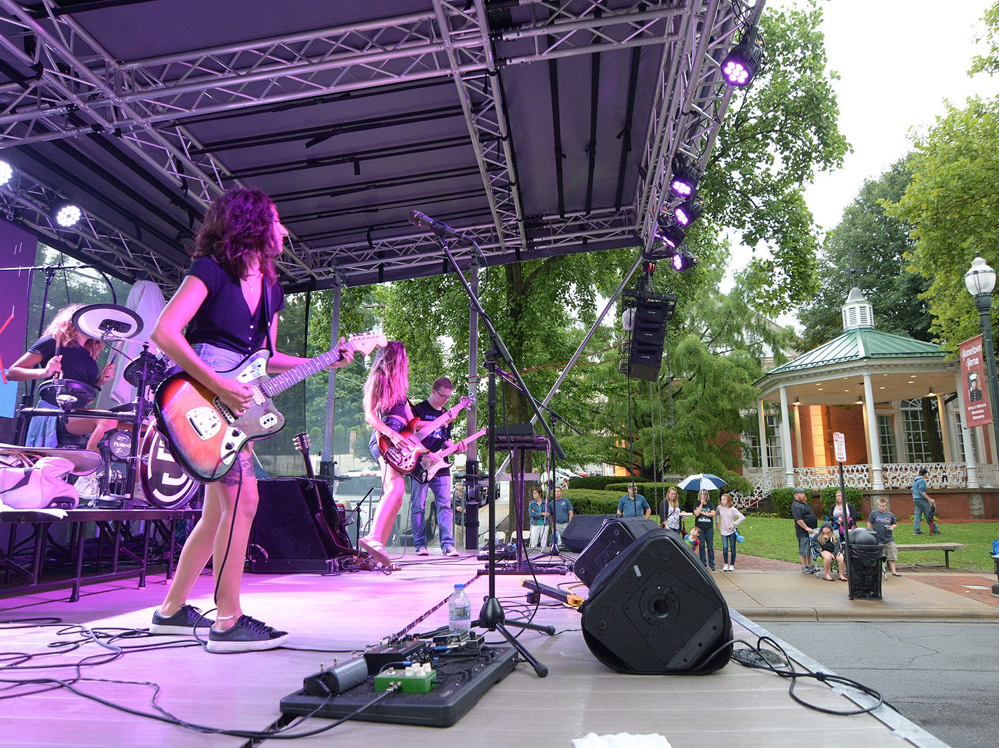 The band Spinning Jenny play Friday, July 20, 2018, during the Lancaster Festival ArtWalk.