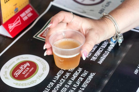 The Devil's Backbone Tasting area at the Louisville Blues, Brews, & BBQ Festival provided attendees a chance to sample over 25 microbrews. 7/21/18