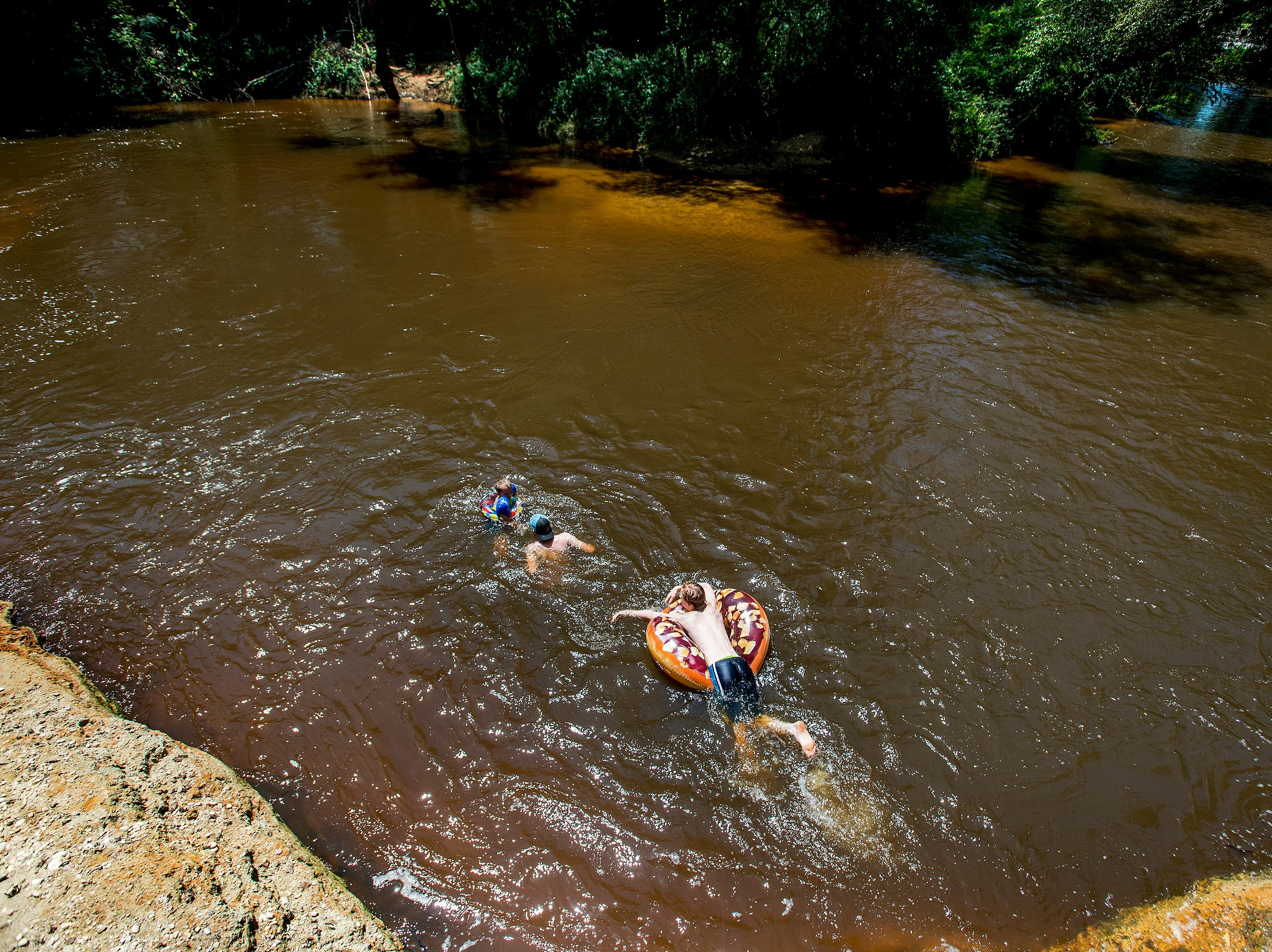 Floating on Autauga Creek in Prattville, Ala., on Saturday, July 21, 2018.