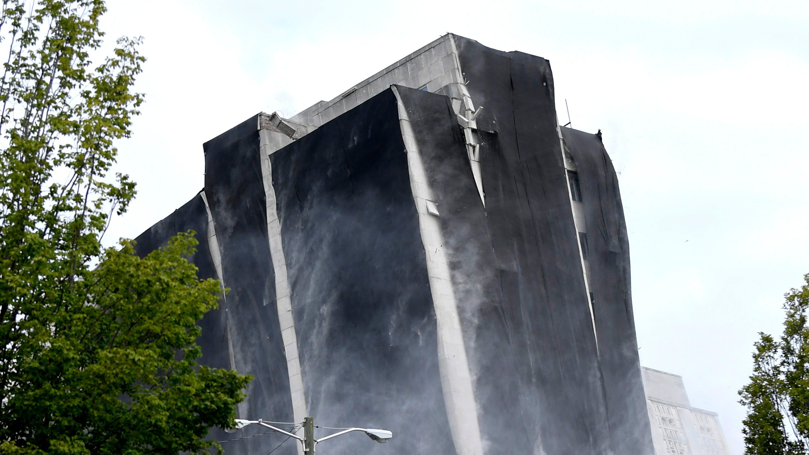 The historic Sullivan Tower implodes in Nashville on Saturday,  July 21, 2018.