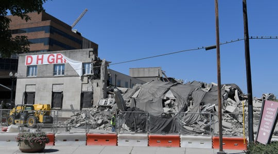 The front of Sullivan Tower after being imploded on Saturday, July 21, 2018.