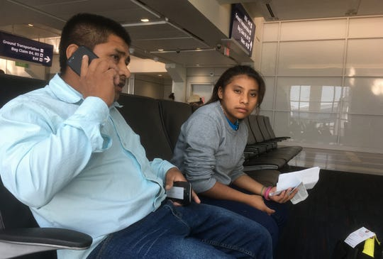 Jacinto Quib and his 13-year old daughter, Glendi, were reunited in Phoenix after being separated by federal authorities for about two months. They are from Guatemala and were on their way to stay with friends in Texas. They were waiting in Dallas for a connecting flight.