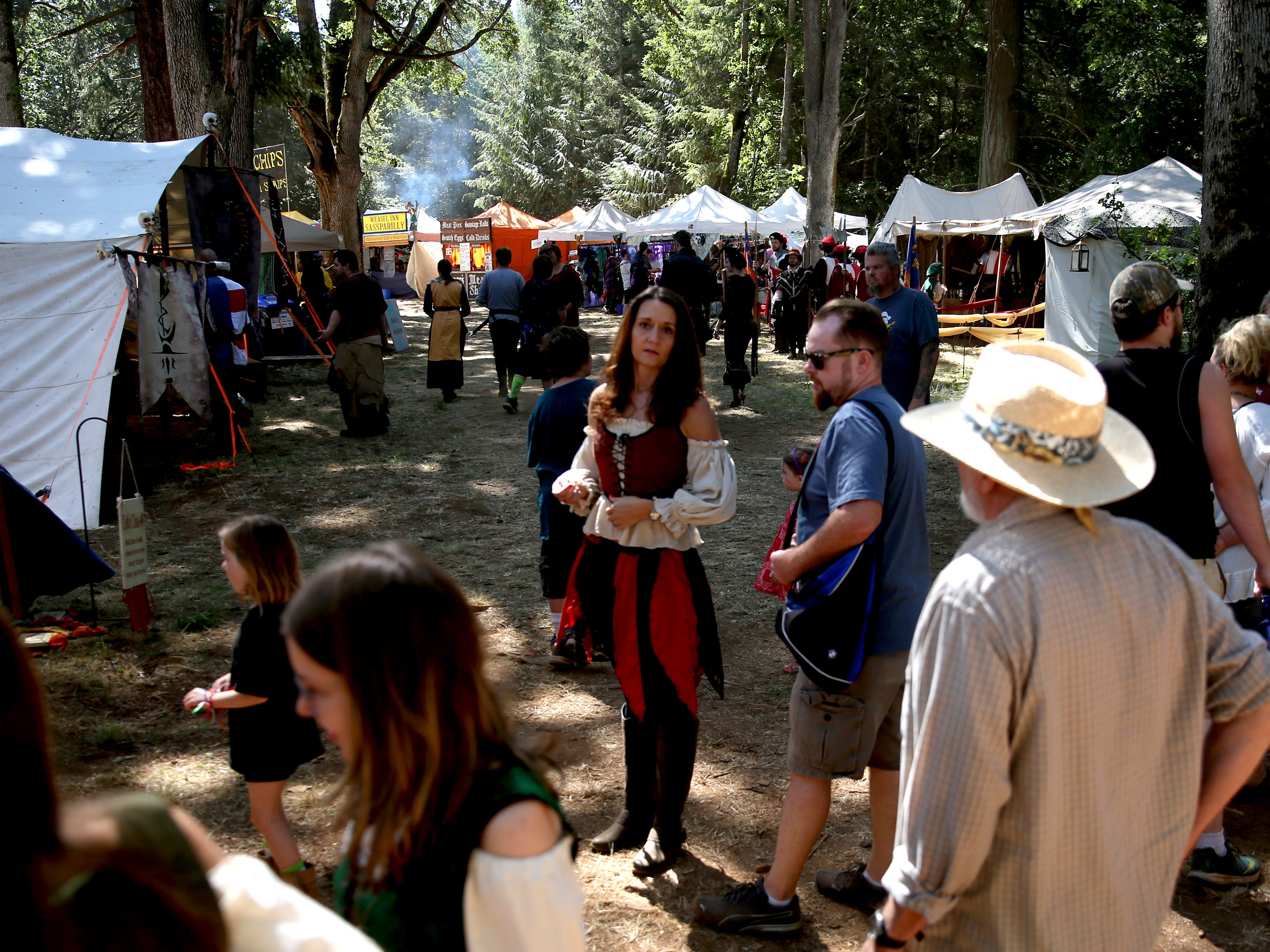 The Canterbury Renaissance Faire near Silverton on Saturday, July 21, 2018. The faire continues July 22, 28 and 29.