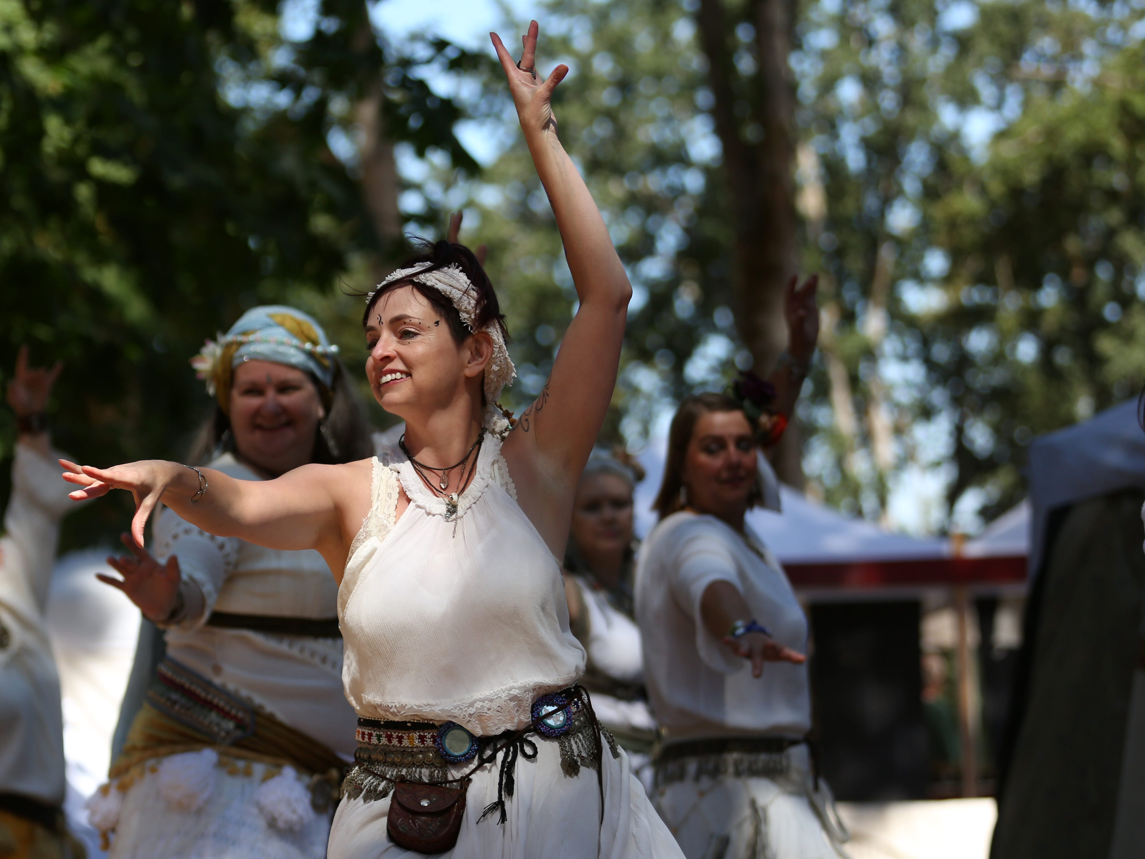 Raks Sarif Belly Dancing performs during the Canterbury Renaissance Faire near Silverton on Saturday, July 21, 2018. The faire continues July 22, 28 and 29.
