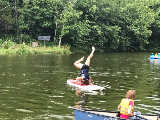 There are three aquatic areas at the YMCA's Camp Wakonda, including a lake, a pool and a creek.