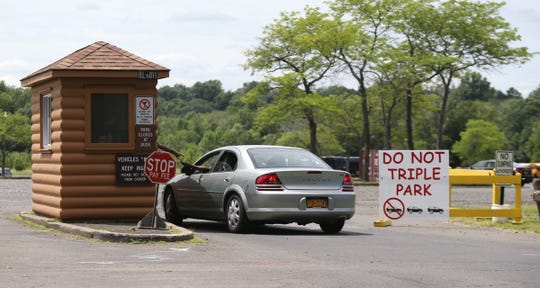 The entrance to main parking lot at Rockland Lake State Park in Congers on Saturday, July 21, 2018.