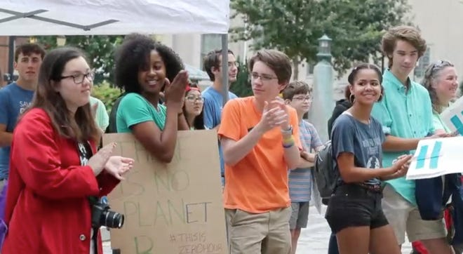 Teen activists organize against climate change