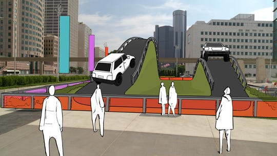 The new outdoor Detroit auto show could include off-road demos on a hill course downtown. The show will move to the week of June 8 in 2020.