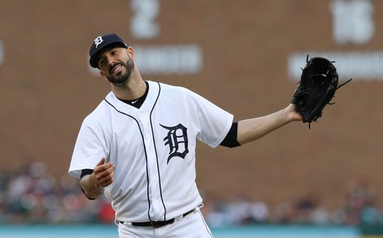 Veteran starting pitcher Mike Fiers is the most likely Tiger to be moved this month.