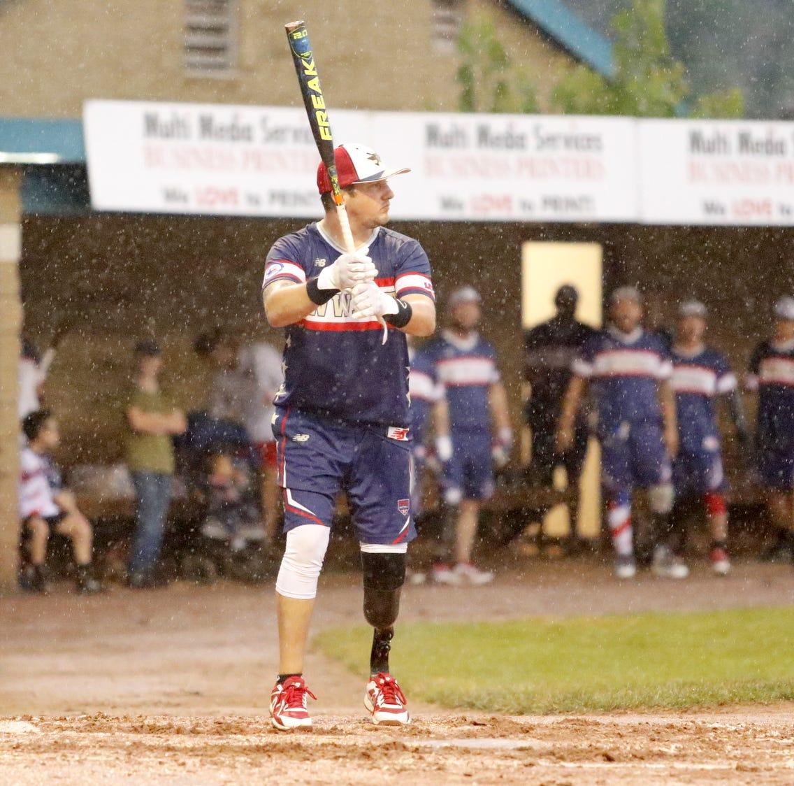 Gallery: Elmira Pioneers host Wounded Warrior Amputee Softball Team