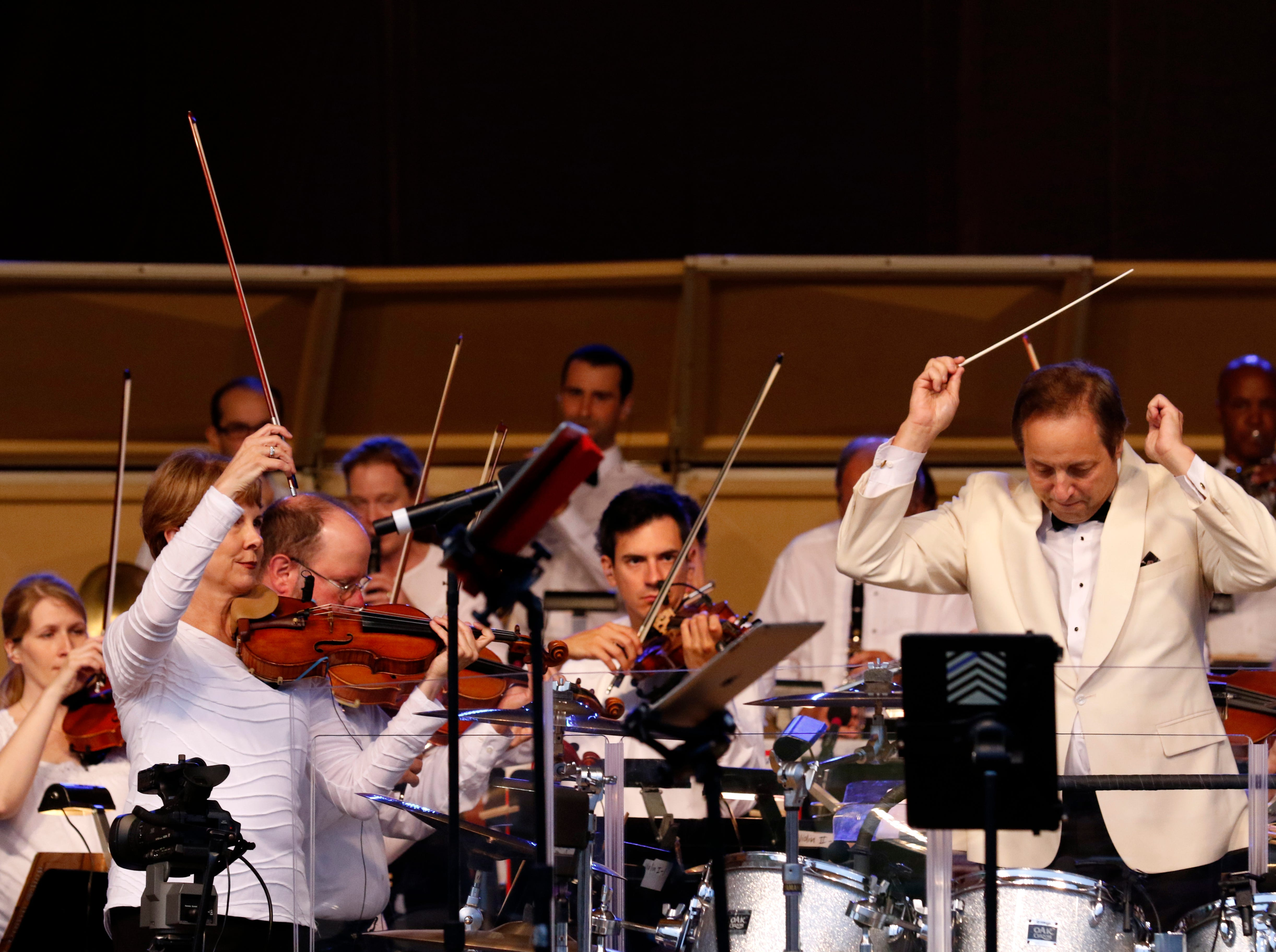 The Lancaster Festival Orchestra performed Saturday night, July 21, 2018, at the Ohio University Lancaster Wendel Concert Stage in Lancaster.