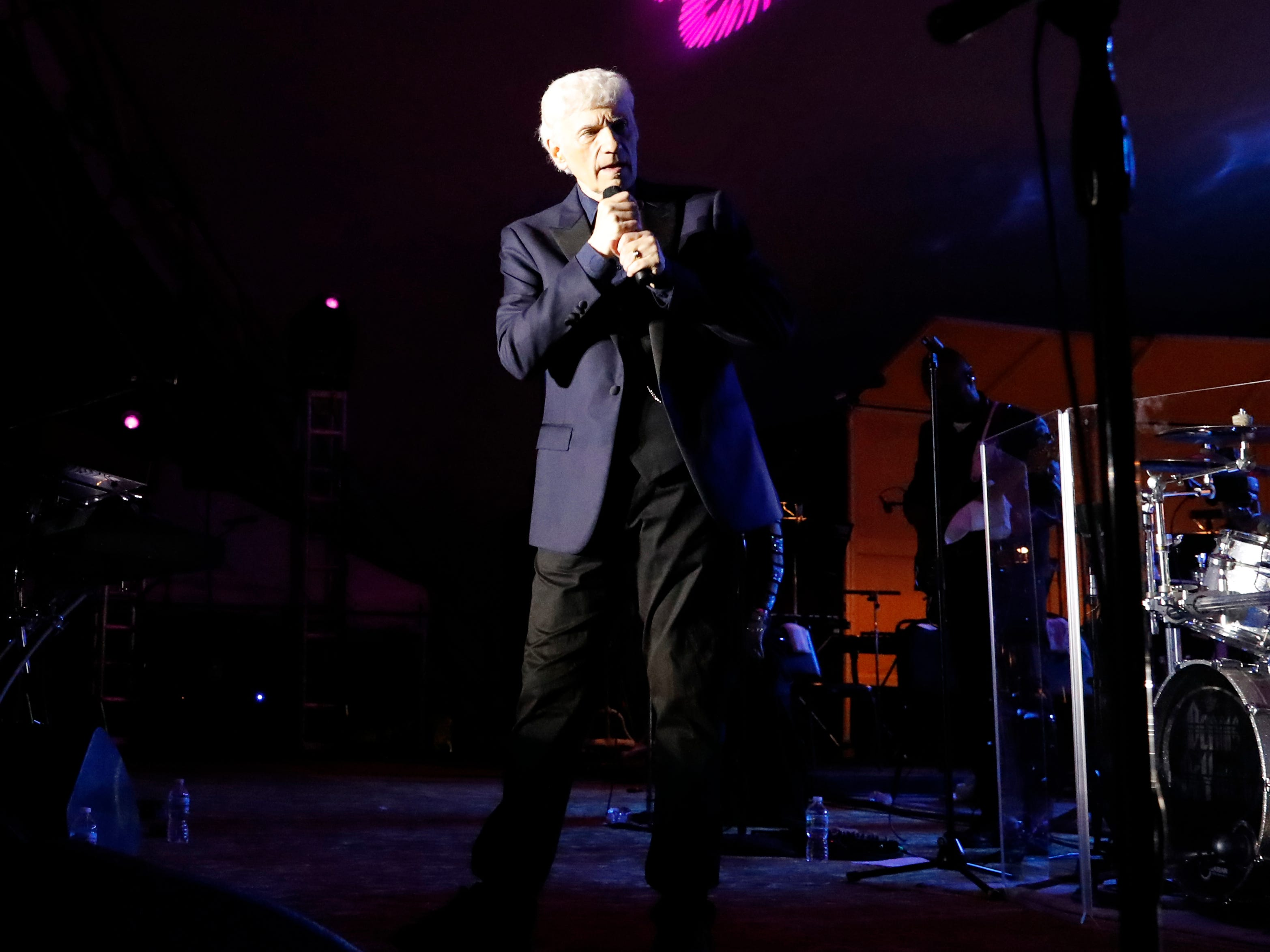 Dennis DeYoung, a founding member of the band Styx, peformed at the first headline concert of the 2018 Lancaster Festival Saturday night, July 21, 2018, at the Ohio University Lancaster Wendel Concert Stage in LancasteDennis DeYoung, a founding member of the band Styx, performed at the first headline concert of the 2018 Lancaster Festival Saturday night, July 21, 2018, at the Ohio University Lancaster Wendel Concert Stage in Lancaster.r.