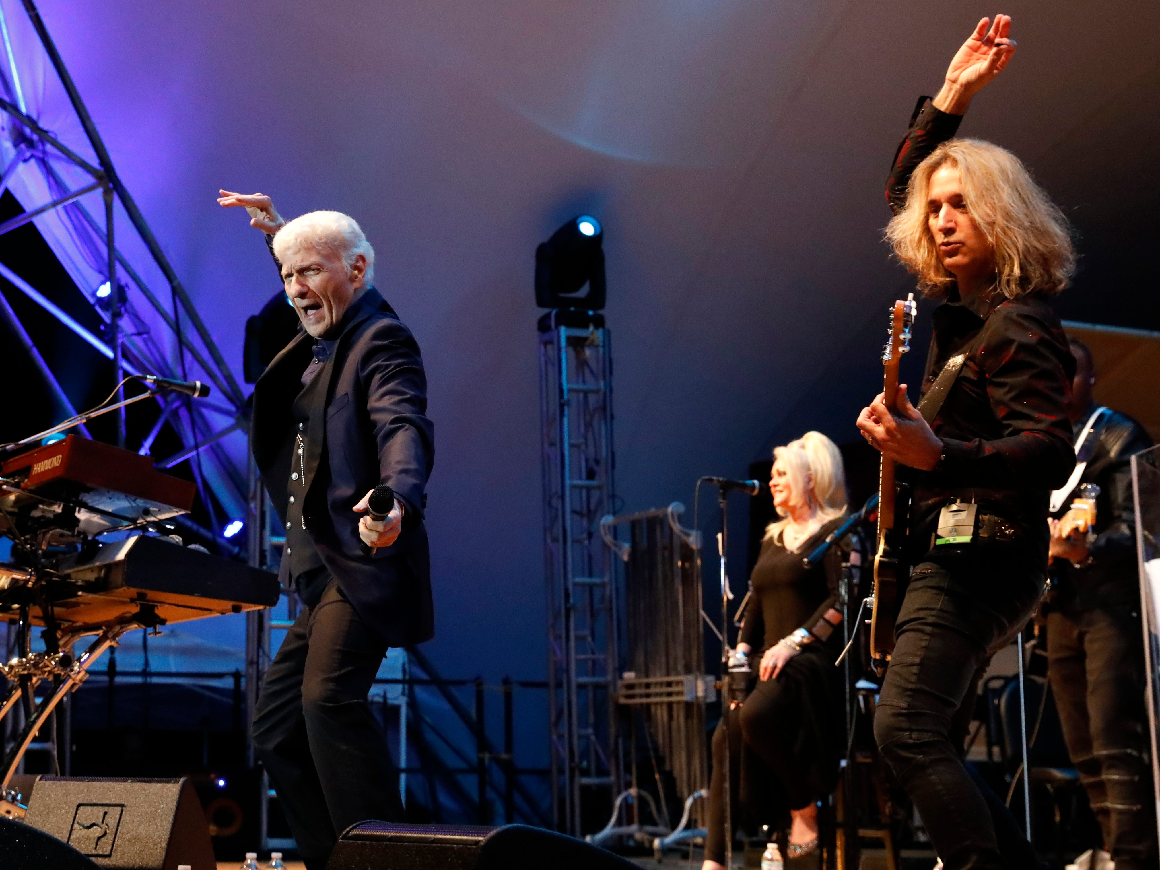 Dennis DeYoung, a founding member of the band Styx, performed at the first headline concert of the 2018 Lancaster Festival Saturday night, July 21, 2018, at the Ohio University Lancaster Wendel Concert Stage in Lancaster.