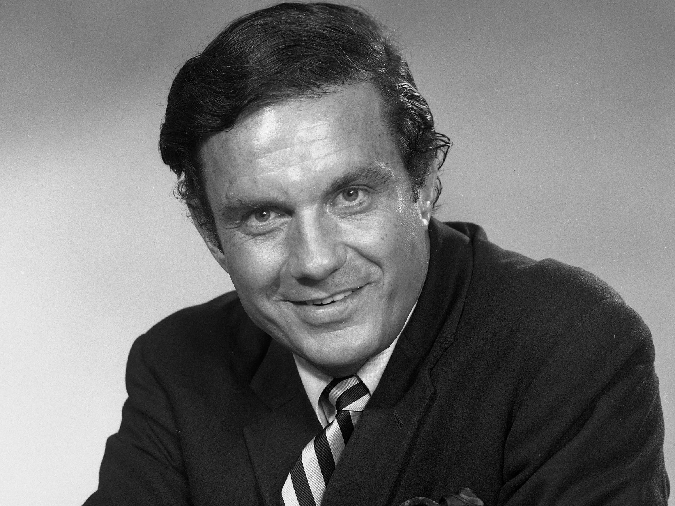 "Cliff Robertson, in Milwaukee for a visit, sits for a portrait at the Journal Co. studio in this photo, which was published in the Dec. 8, 1968, Milwaukee Journal. Robertson was promoting his latest movie, ""Charly,"" which the next year won him an Academy Award for best actor."