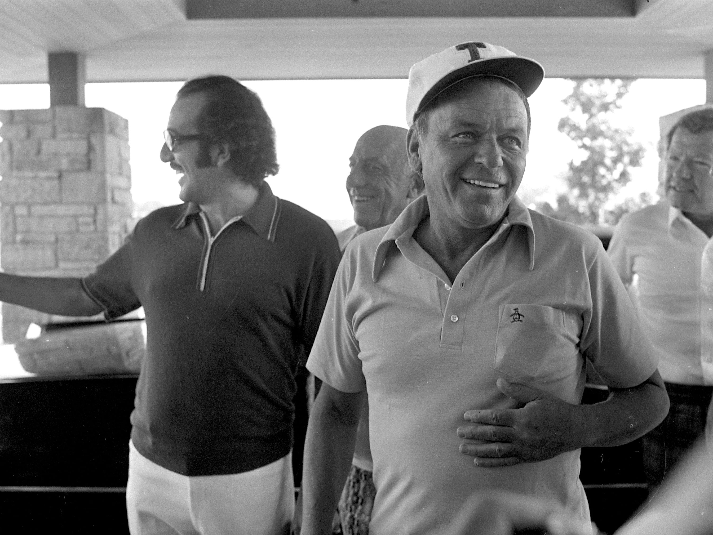 Frank Sinatra is all smiles at Tuckaway Country Club on Aug. 27, 1973, where he played in the National Italian Invitational Golf Tournament for Charities. It was the first time Sinatra had been in Milwaukee since he was touring with the Tommy Dorsey Orchestra in 1940. This photo is published in the Aug. 28, 1973, Milwaukee Journal.