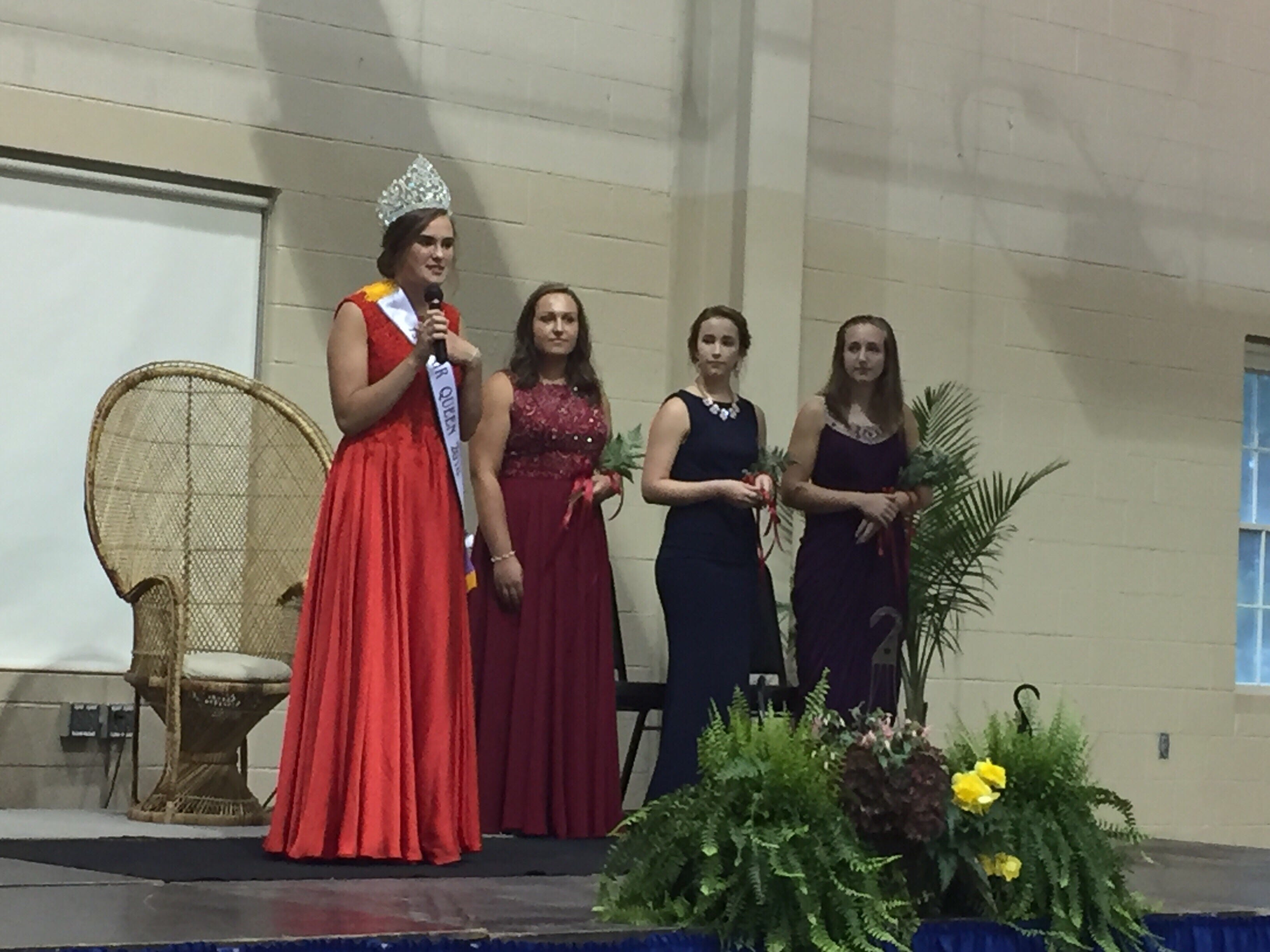 Moments before the dramatic conclusion to the 2018 Lebanon Fair Queen coronation.