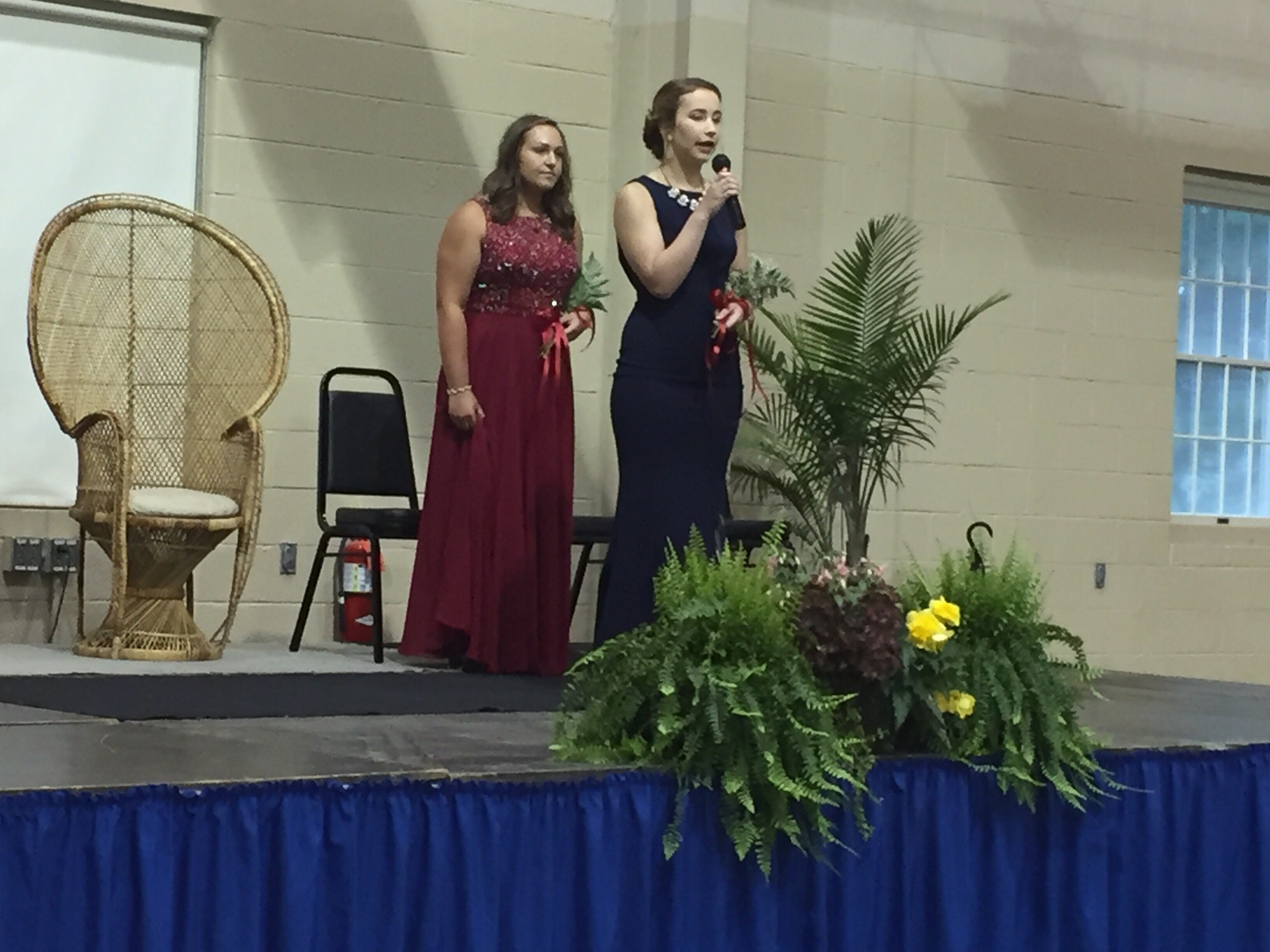 Marissa Weaver answers an impromptu question during the Lebanon Fair Queen proceedings.