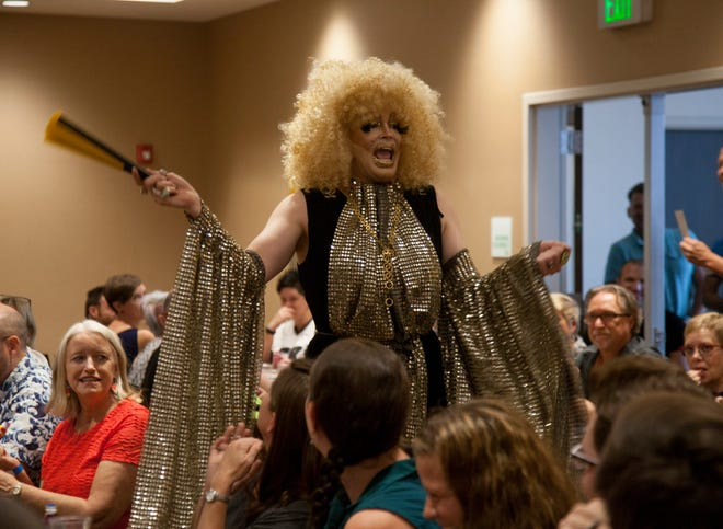 Tre L'trache delighted the full house gathered for Drag Queen Bingo at the Holiday Inn St. George on July 21, 2018. The event raised money for the city's upcoming Pride festival.