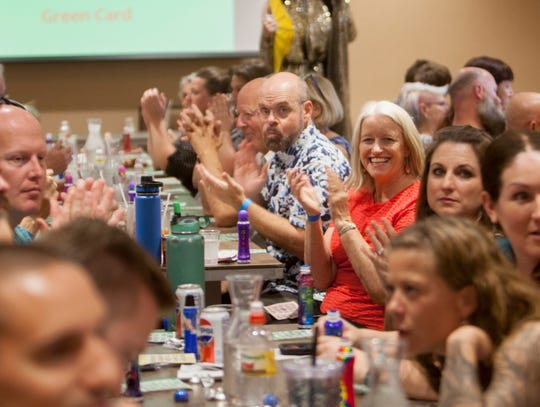 More than $2,500 was raised at Drag Queen Bingo in St. George on July 21, 2018.