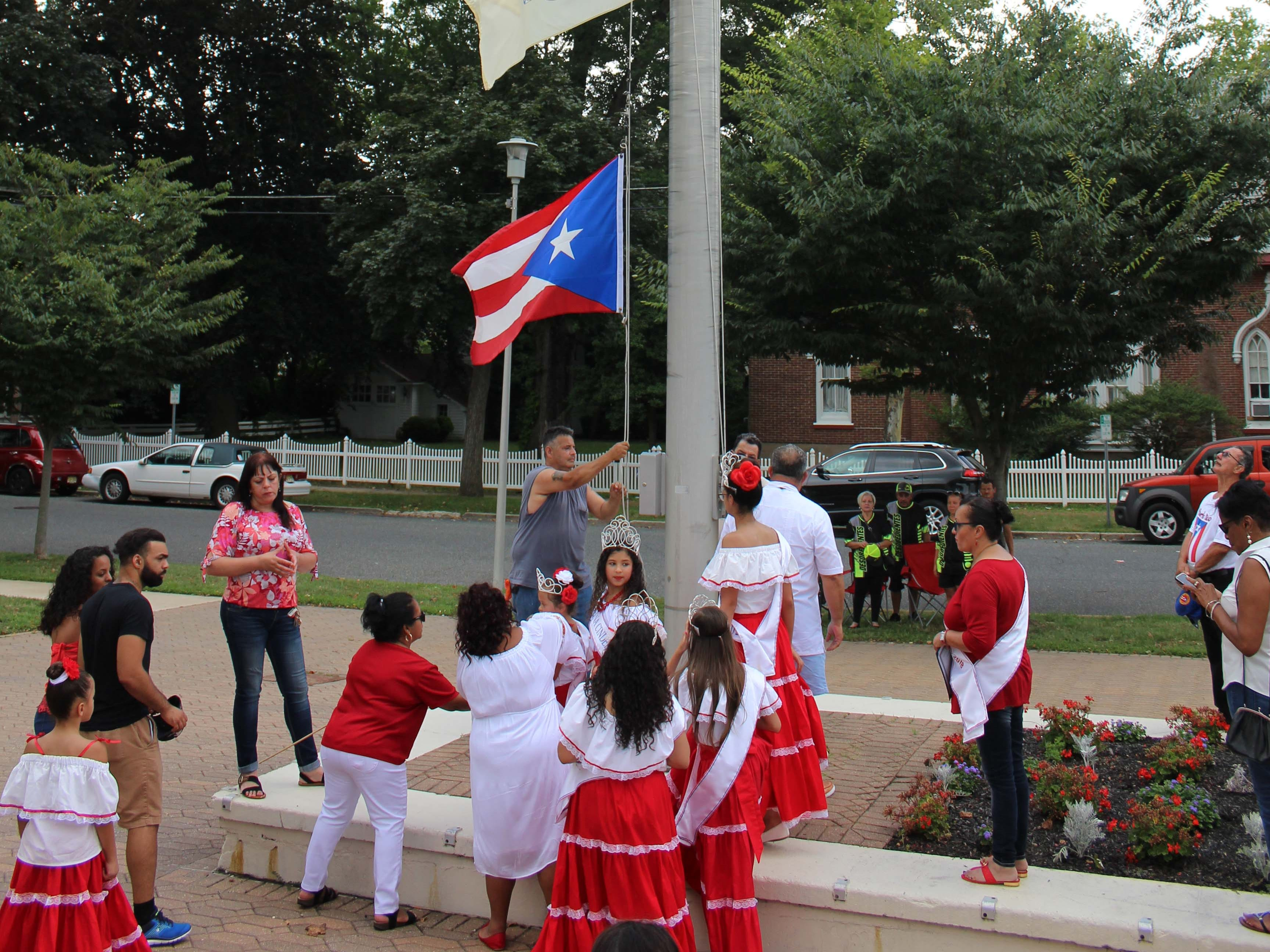 The Puerto Rican flag was raised on Sunday, July 22, outside of Vineland City Hall, marking the beginning of the week-long Puerto Rican Festival. The day's ceremony was dedicated to victims of Hurricane Maria.
