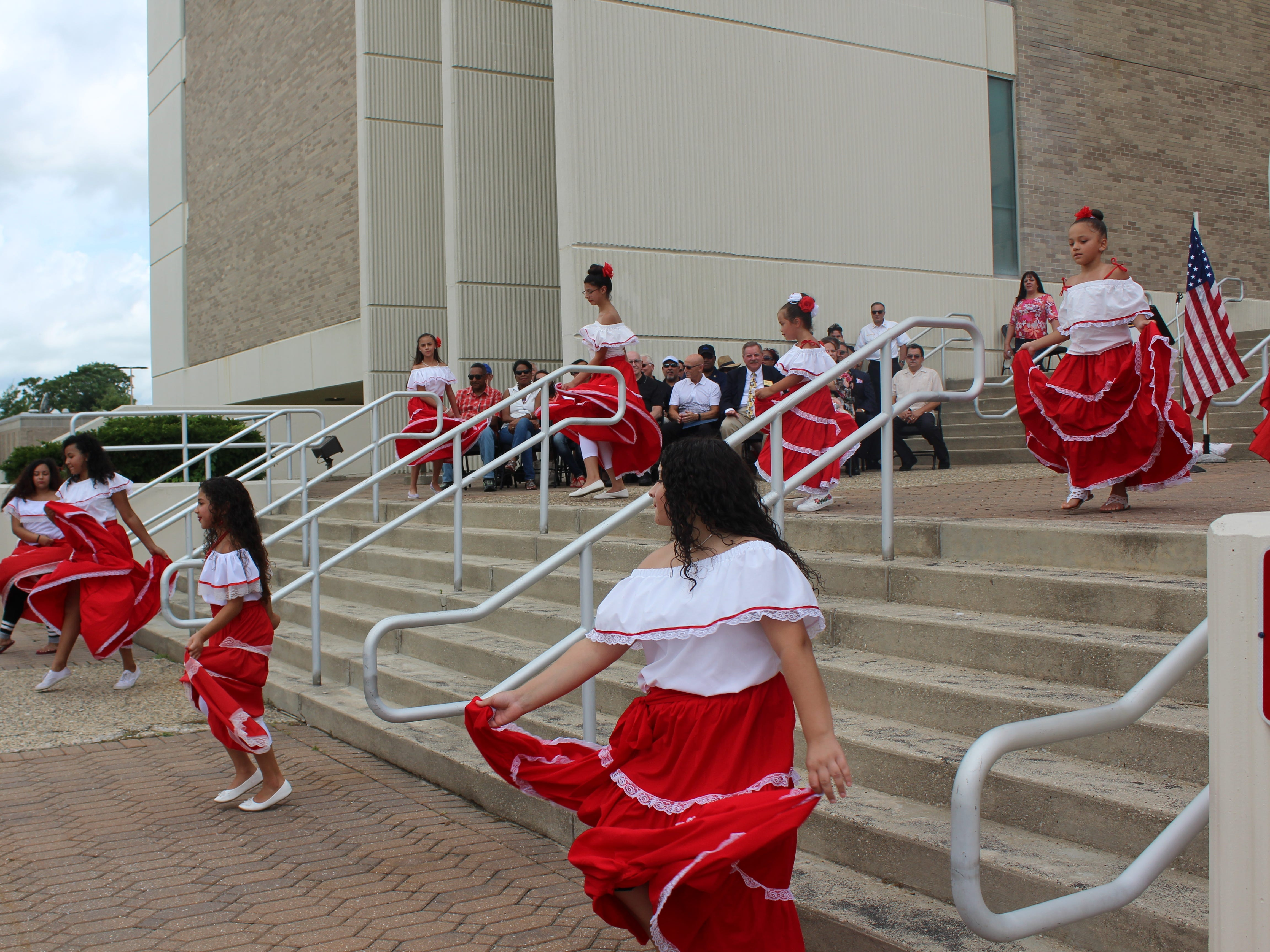 Some of the dancers and performances during the flag-raising ceremony for the Puerto Rican Festival at Vineland City Hall on Sunday, July 22.