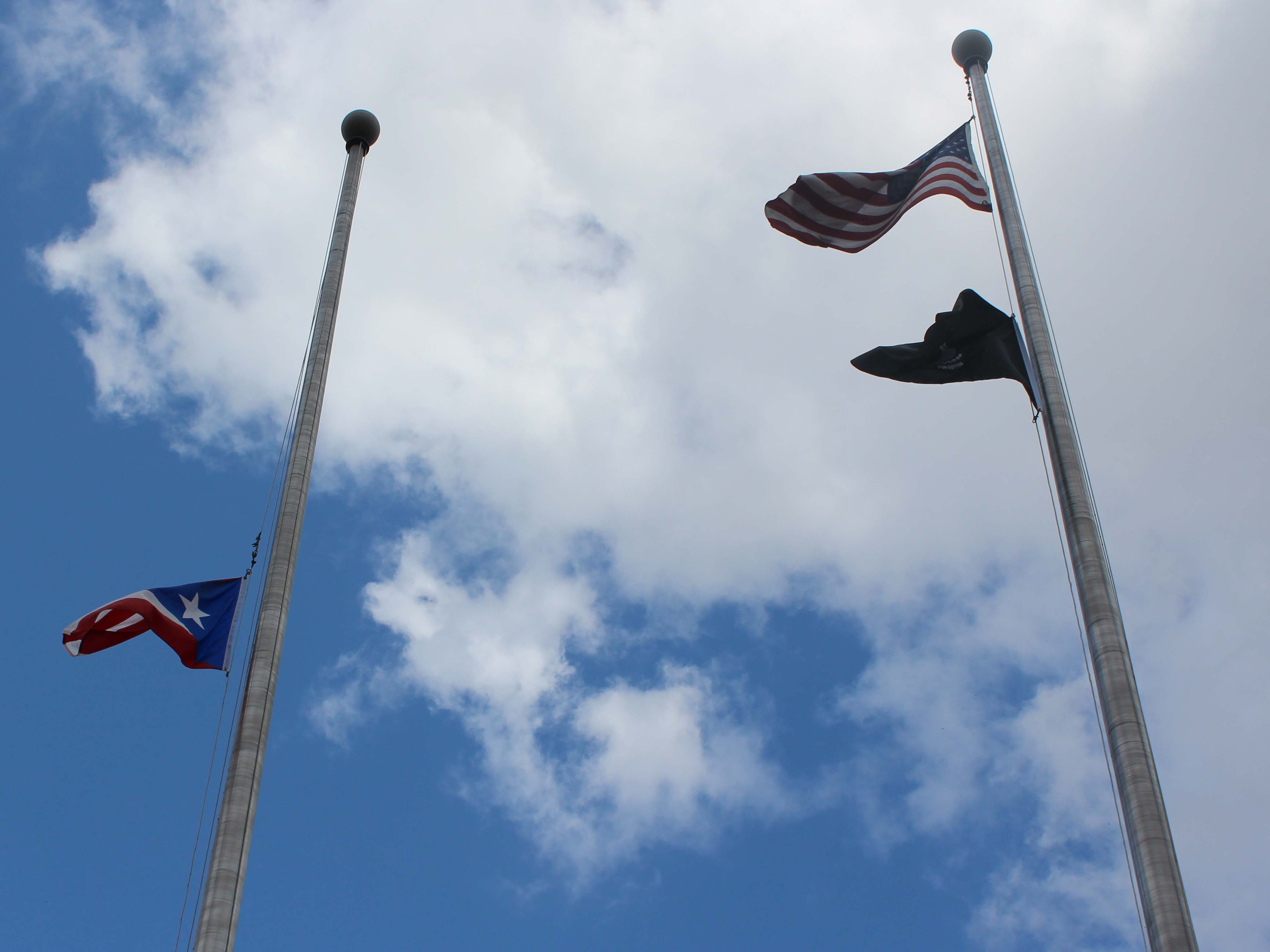 The Puerto Rican flag flew proudly alongside the American flag outside of Vineland City Hall on Sunday, July 22, 2018.