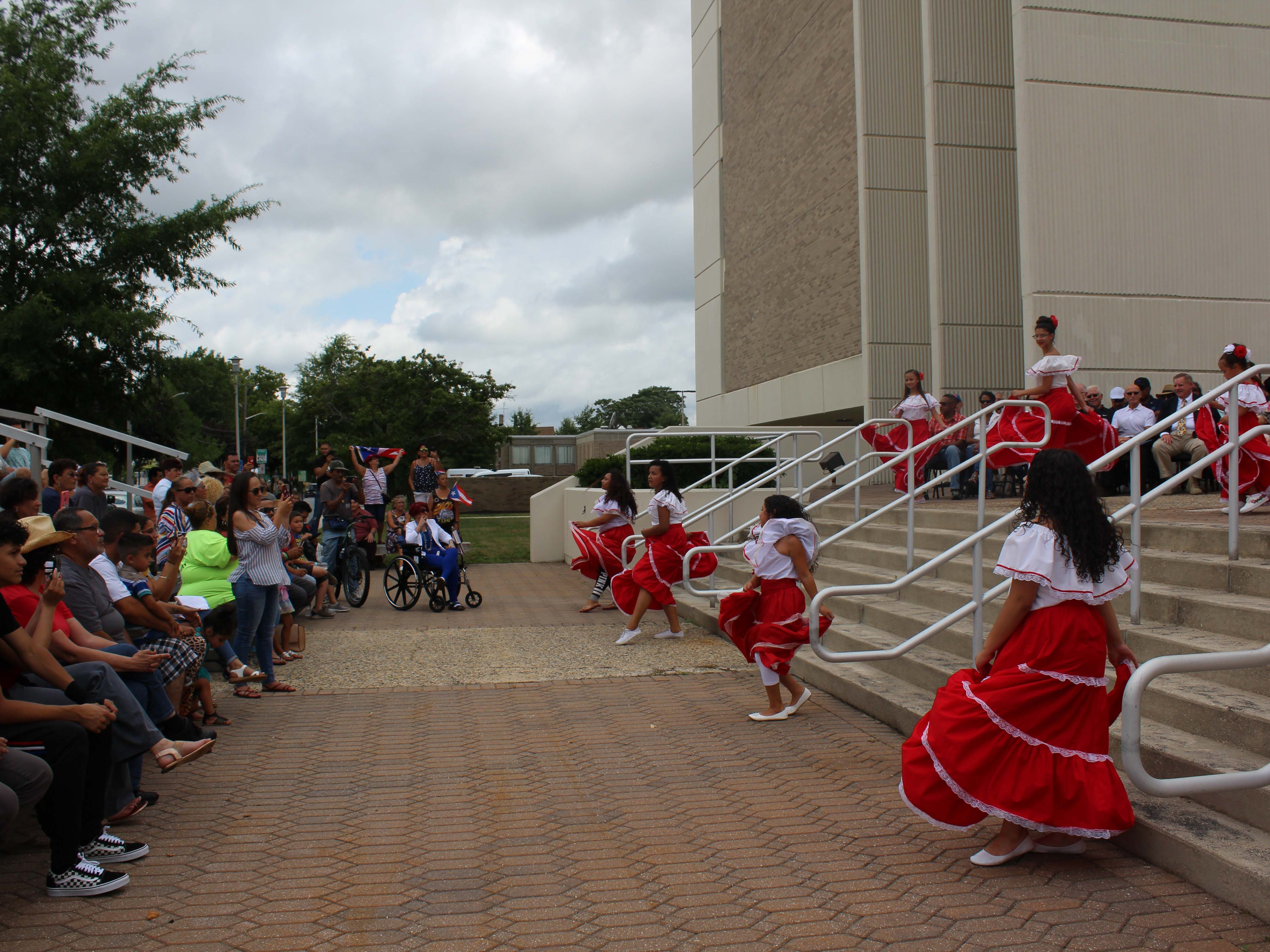 Some of the dancers and performances during the flag-raising ceremony for the Puerto Rican Festival at Vineland City Hall on Sunday, July 22, 2018.