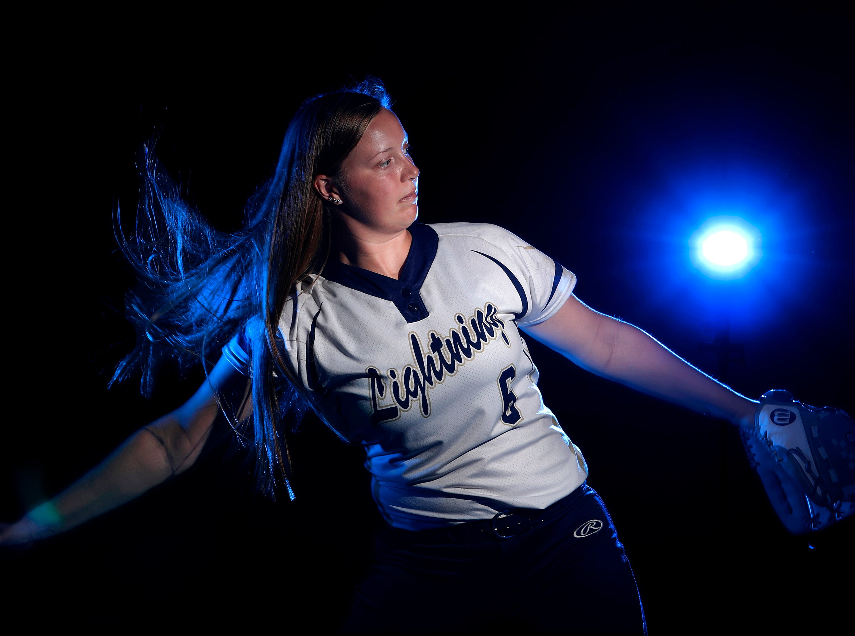 Marissa Mullen, with Appleton North High School, is the softball athlete of the year Wednesday, July 11, 2018, in Appleton, Wis. 