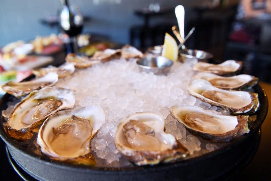 Oysters on the half shell at the Wine & Oyster last summer.