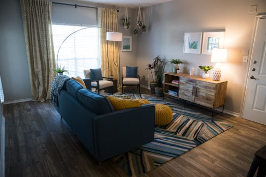 An updated one bed room apartment at the San Marin apartments.