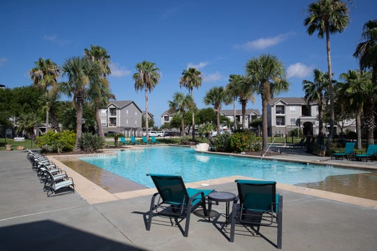 The pool at San Marin apartments.