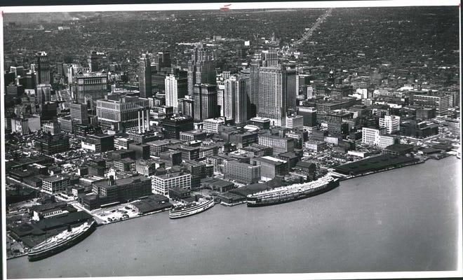 Skyline Detroit Detroit 1941.