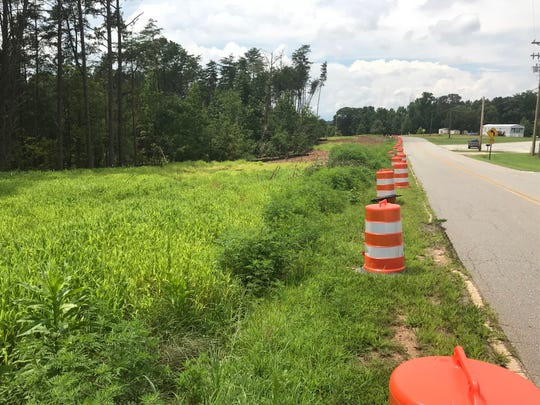 Construction is underway on the State 153 extension along Rolling Hills Road.