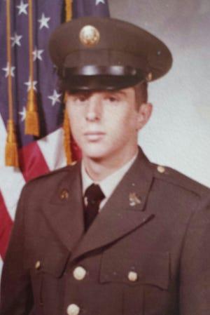 Basic training photo, Ft. Jackson, S.C. April, 1972. George Korda had just turned 19.